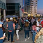 Scenic views at night at the Stamford Brew and Whiskey Festival on Harbor Point