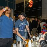 Patrons sampling Suntory Whiskey at the 2019 Stamford Brew and Whiskey Festival