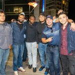 A group of guys posing for a photo at the Brew Fest